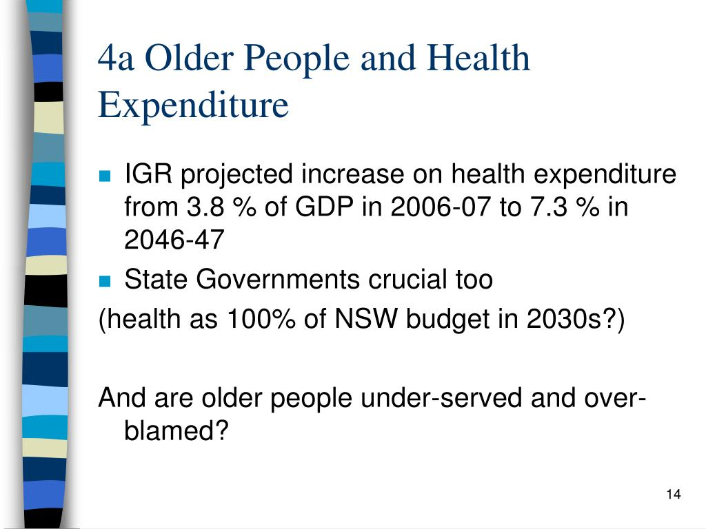 4a Older People and Health Expenditure