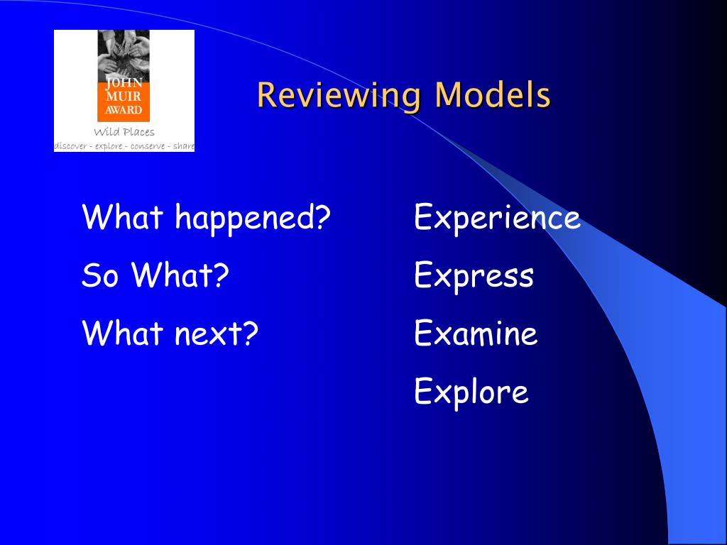 Reviewing Models