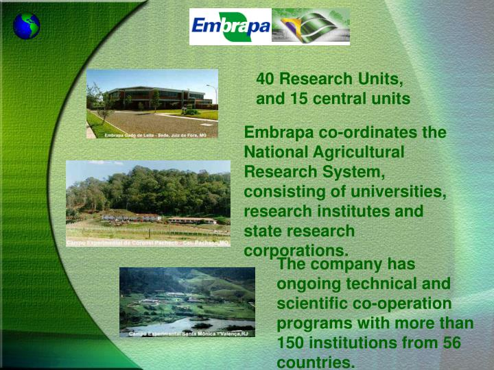 40 Research Units,