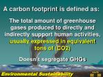 a carbon footprint is defined as