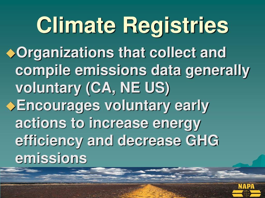 Climate Registries