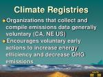 climate registries