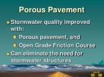 porous pavement