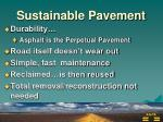 sustainable pavement