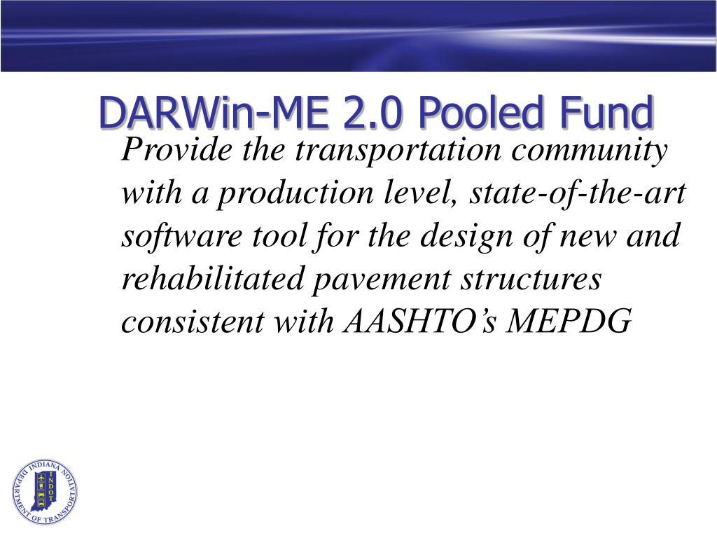 DARWin-ME 2.0 Pooled Fund