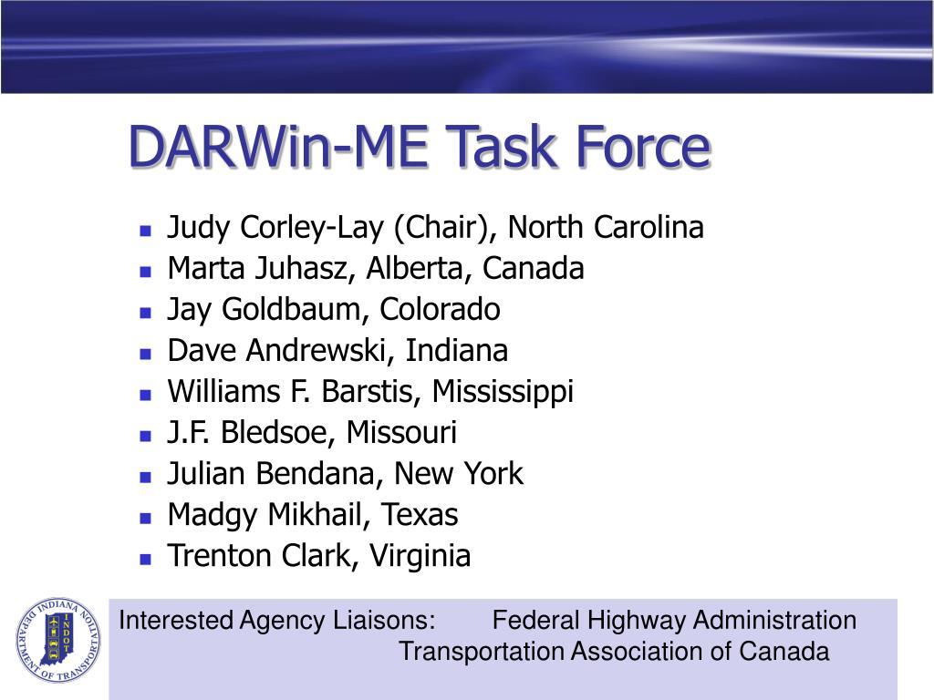 DARWin-ME Task Force