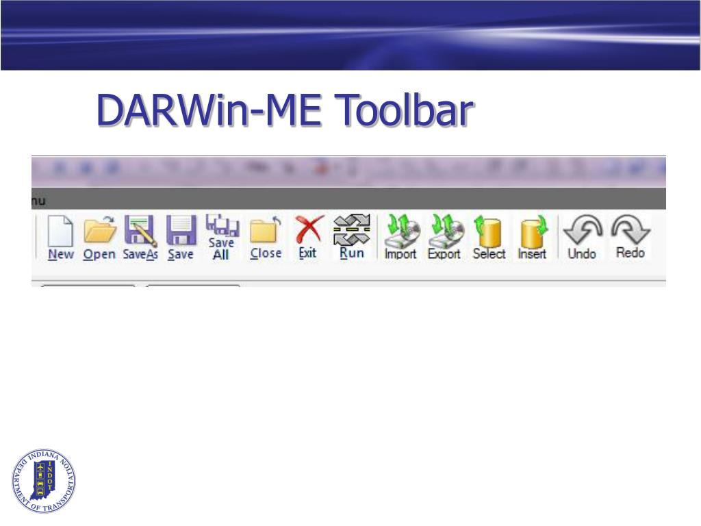 DARWin-ME Toolbar
