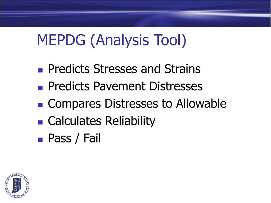 MEPDG (Analysis Tool)