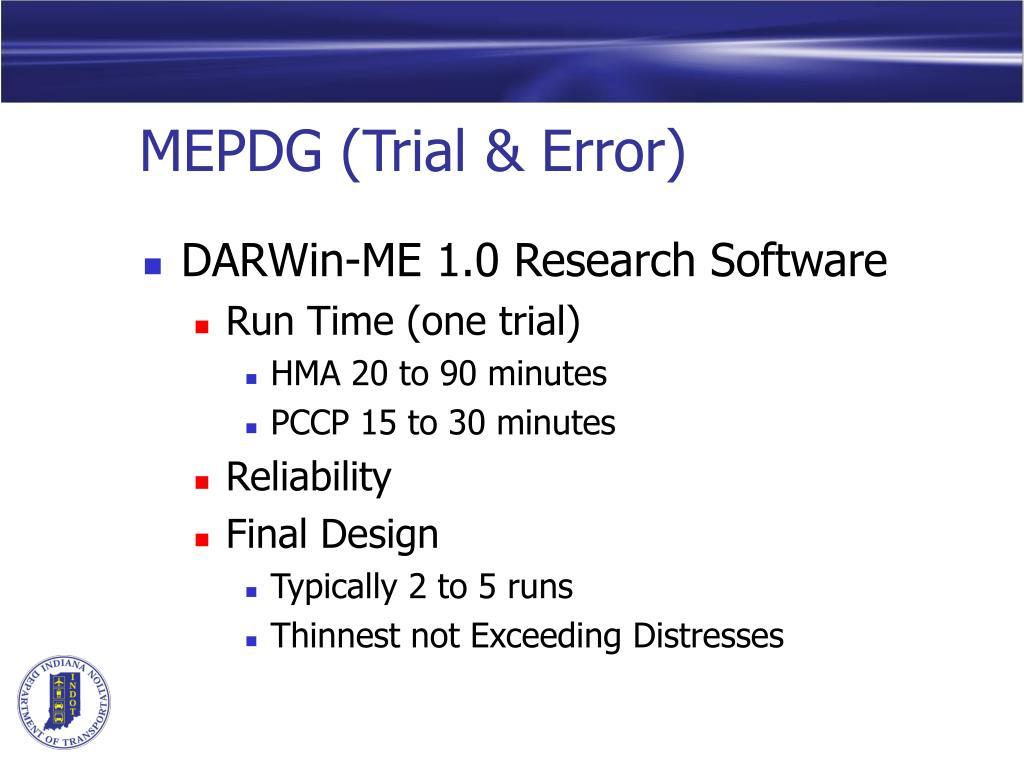 MEPDG (Trial & Error)