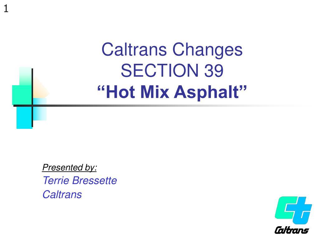 Caltrans Changes
