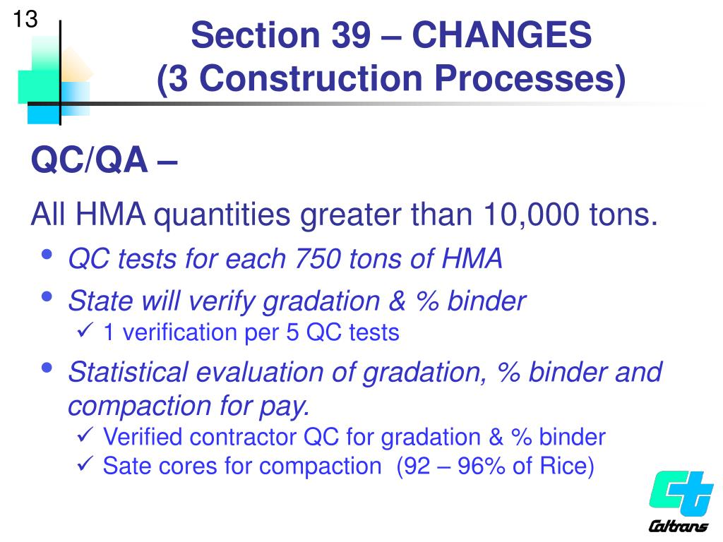 Section 39 – CHANGES