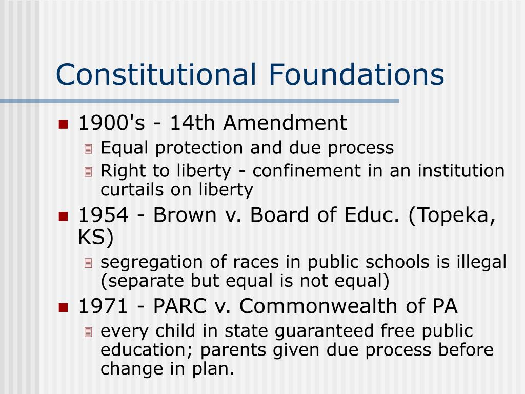 Constitutional Foundations