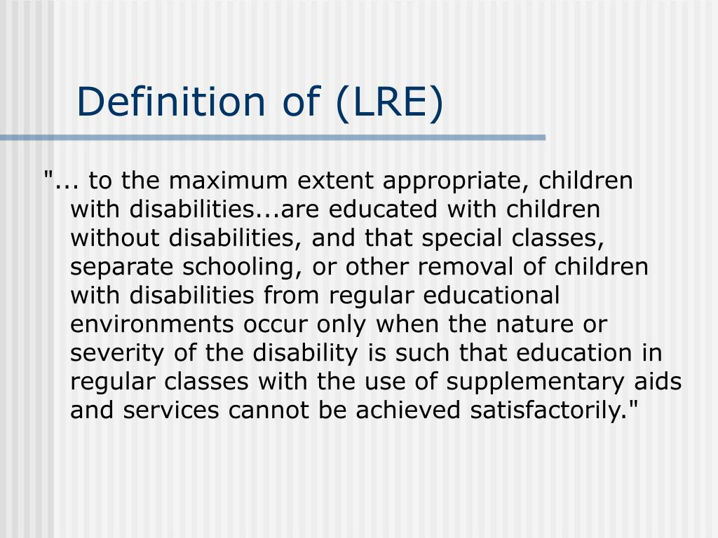 Definition of (LRE)