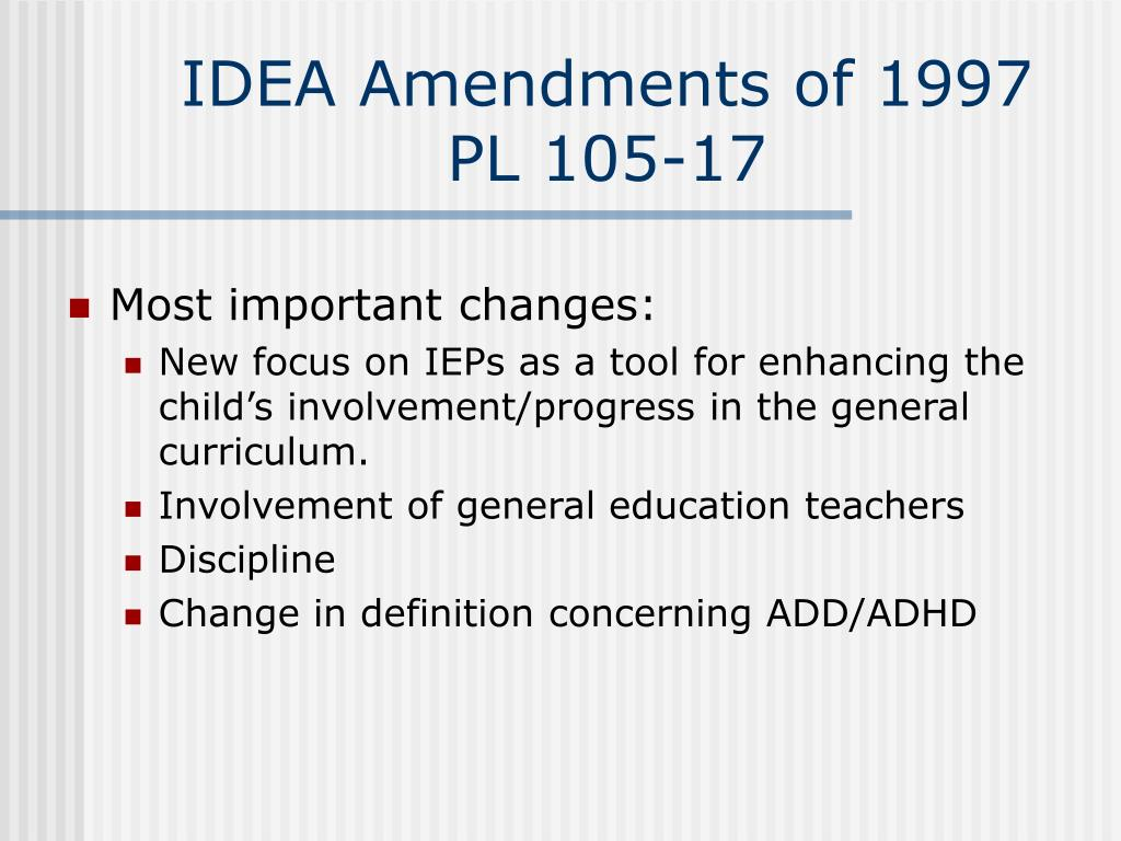 IDEA Amendments of 1997
