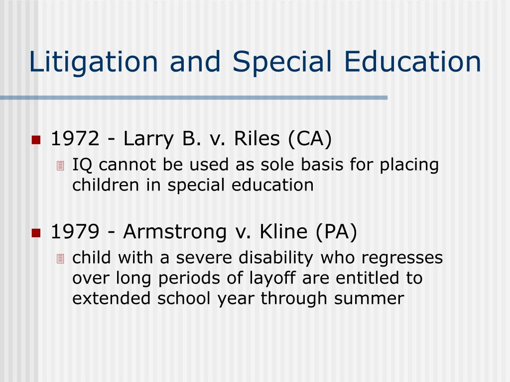 Litigation and Special Education