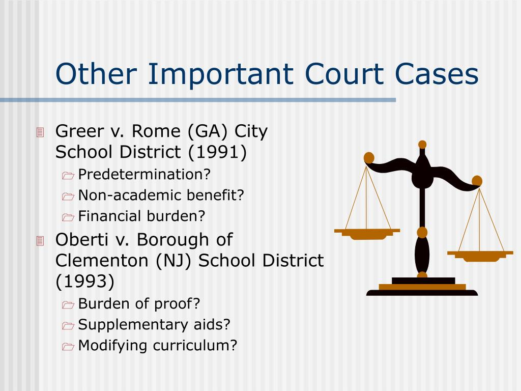 Other Important Court Cases
