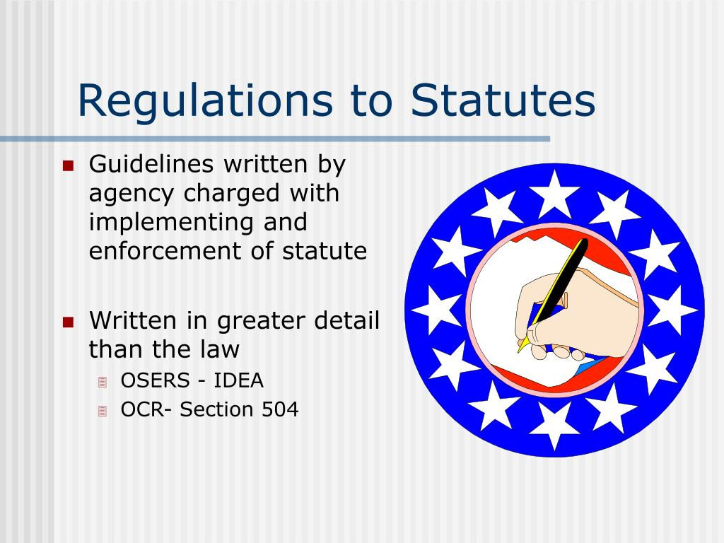 Regulations to Statutes
