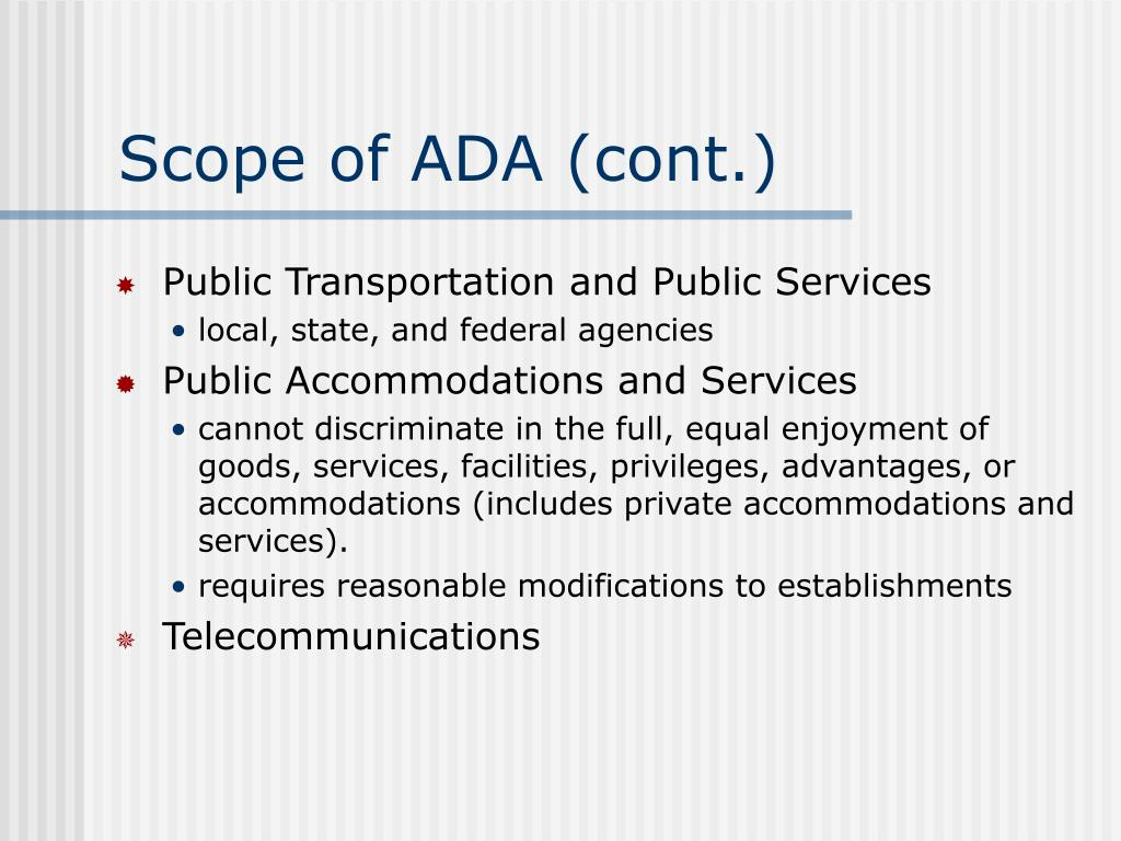 Scope of ADA (cont.)