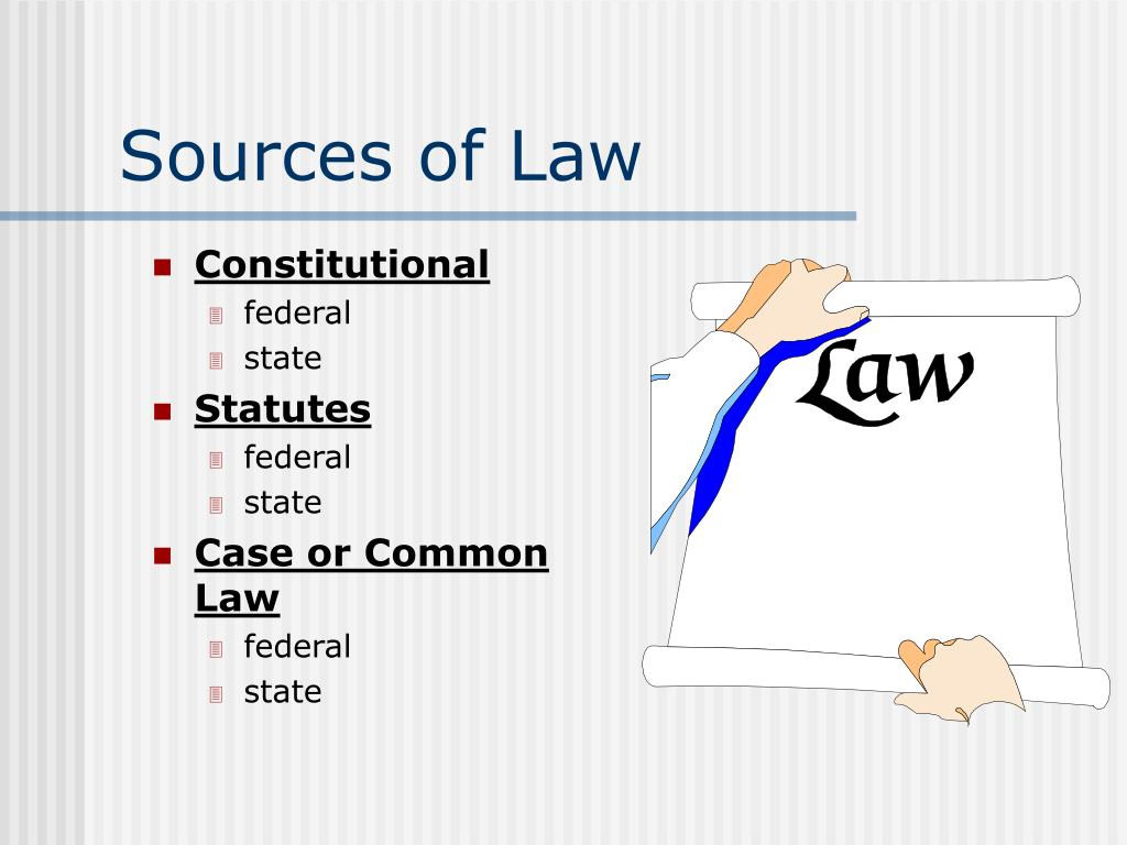 Sources of Law