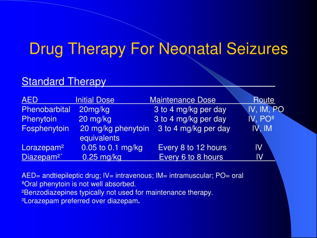 Drug Therapy For Neonatal Seizures