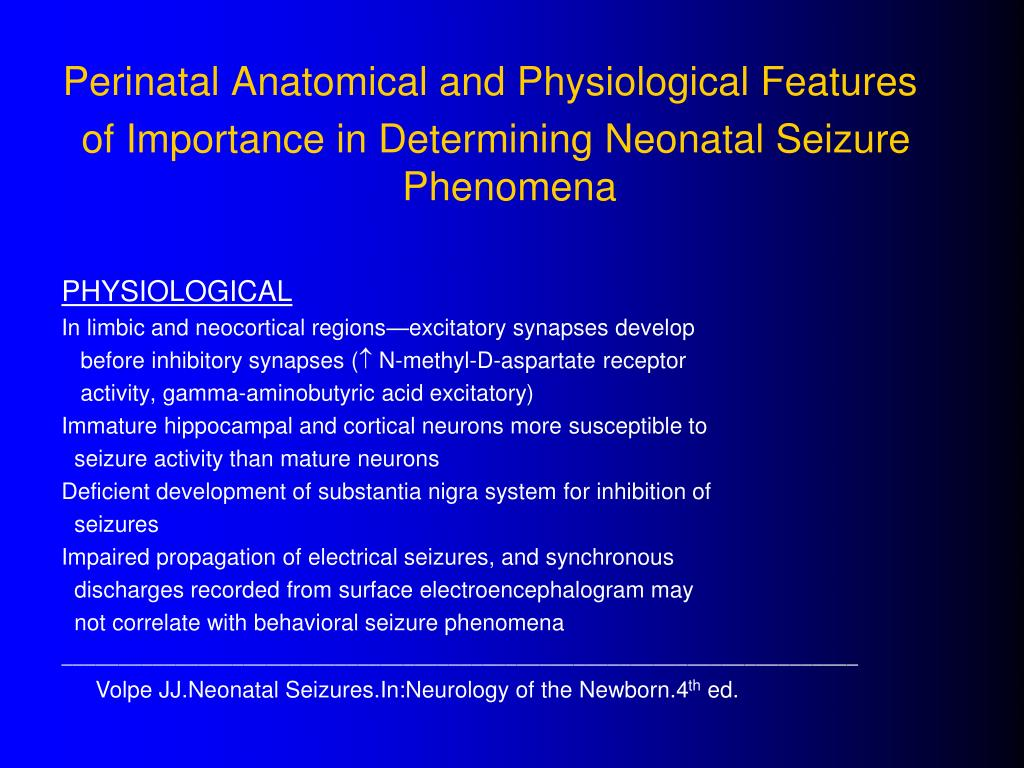 Perinatal Anatomical and Physiological Features