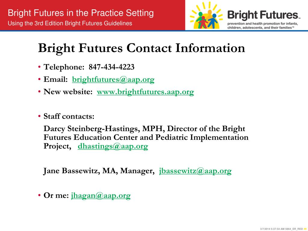 Bright Futures Contact Information