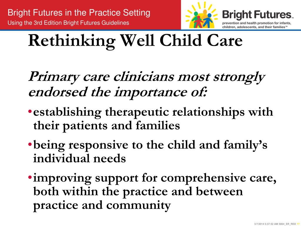 Rethinking Well Child Care