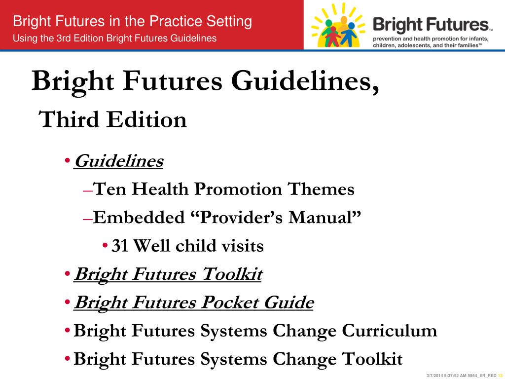 Bright Futures Guidelines,