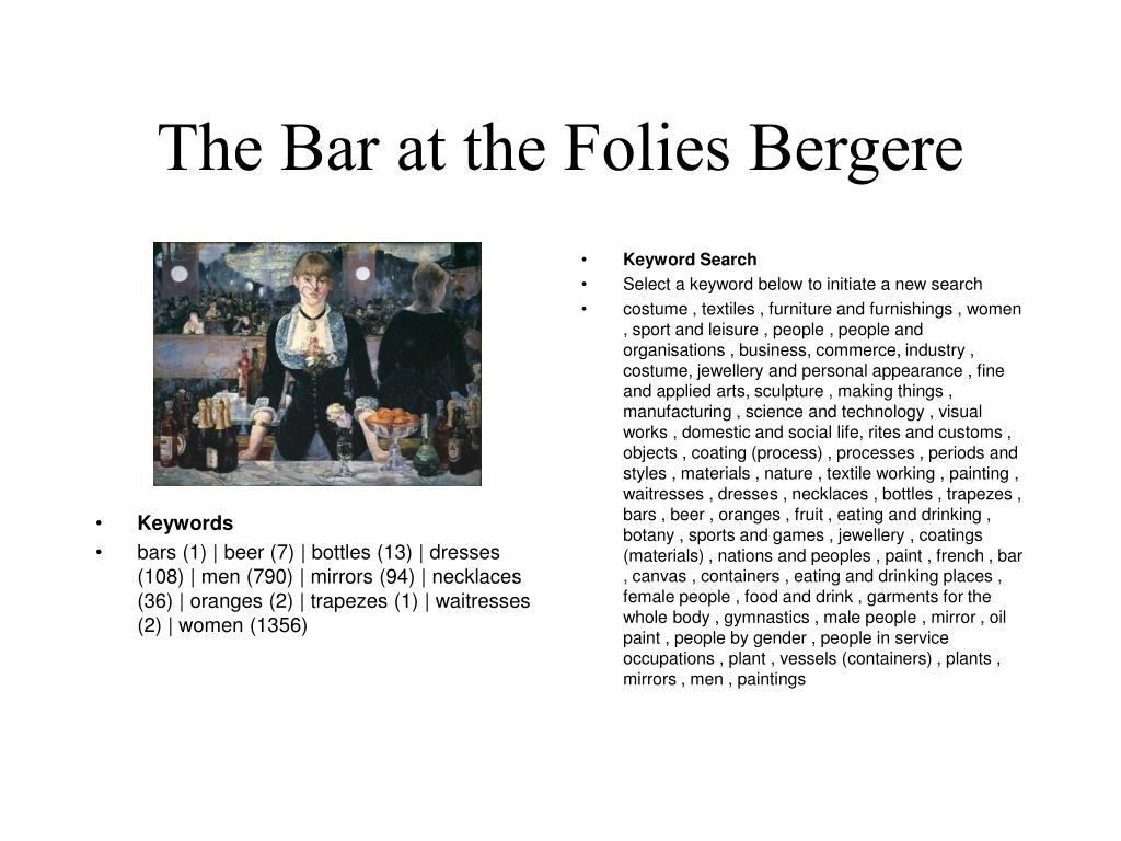 The Bar at the Folies Bergere