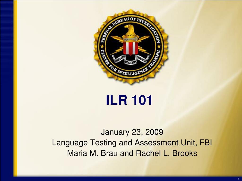 ILR 101