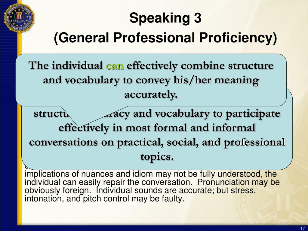 Speaking 3