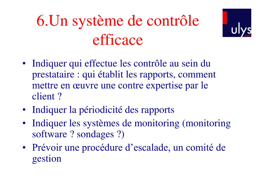 6.Un système de contrôle