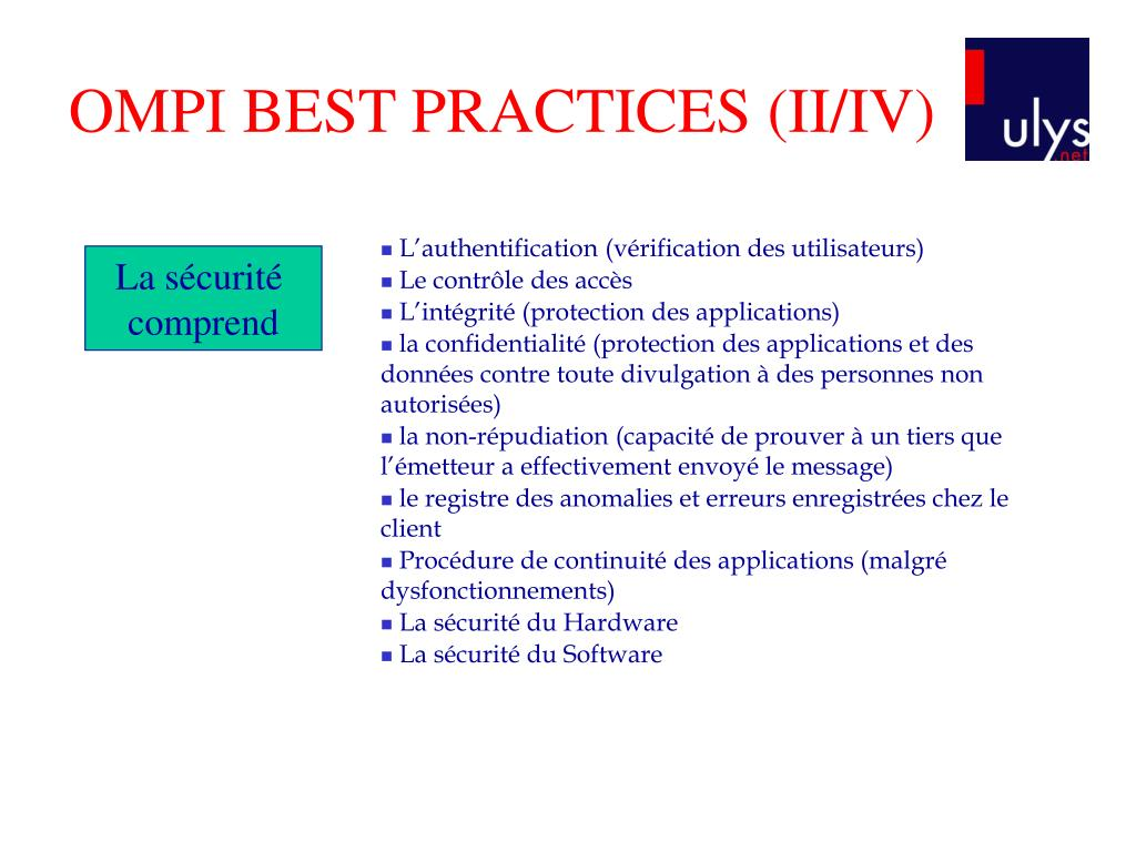 OMPI BEST PRACTICES (II/IV)