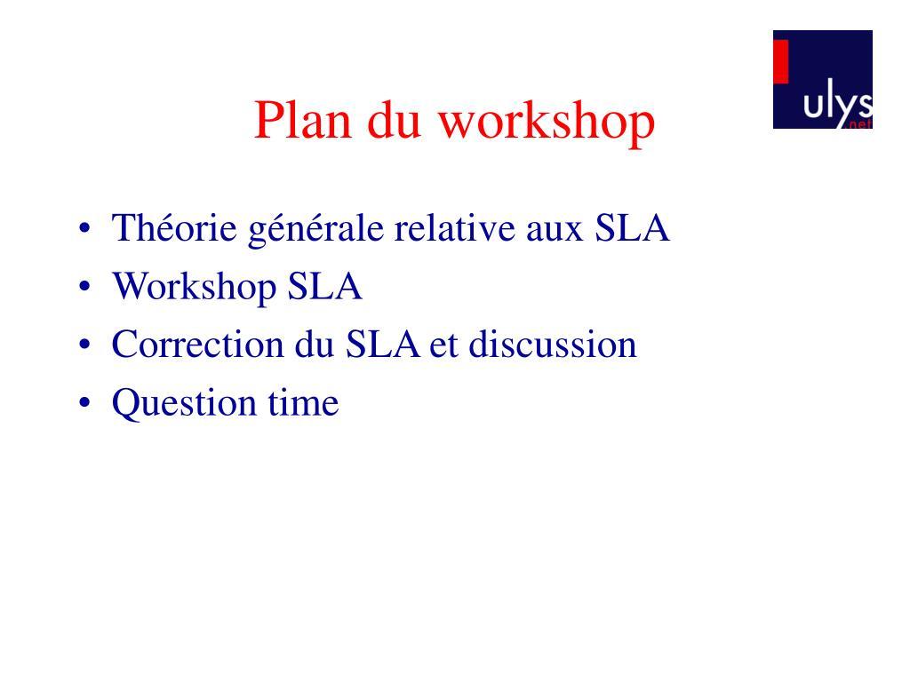 Plan du workshop