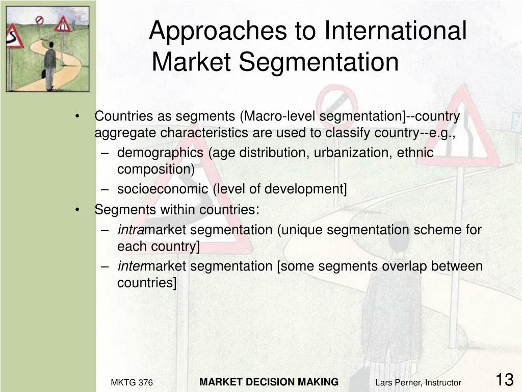 Approaches to International Market Segmentation