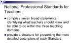 national professional standards for teachers38