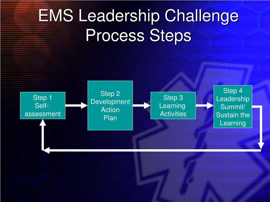 EMS Leadership Challenge Process Steps