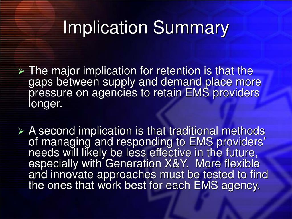 Implication Summary