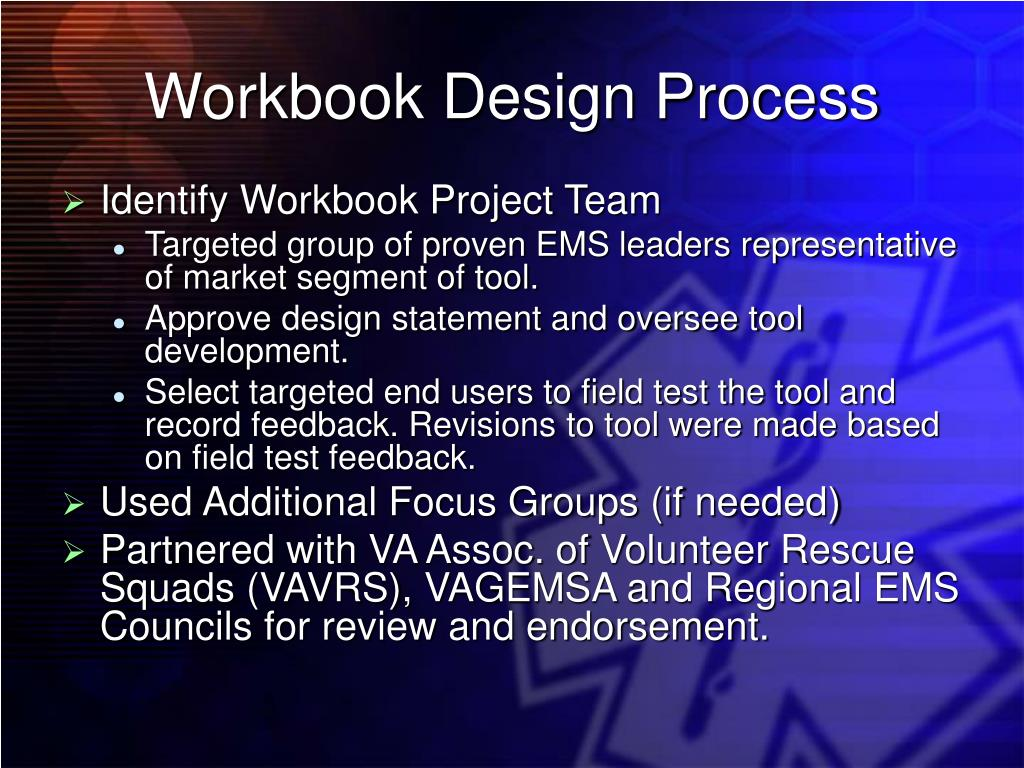 Workbook Design Process