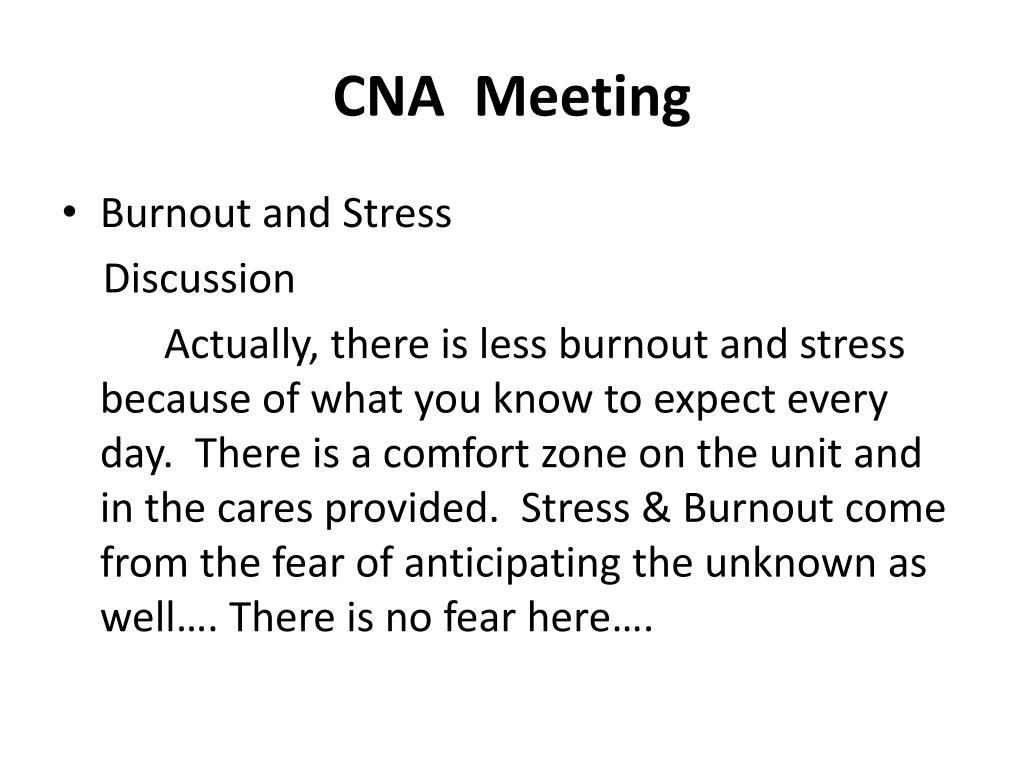 CNA  Meeting