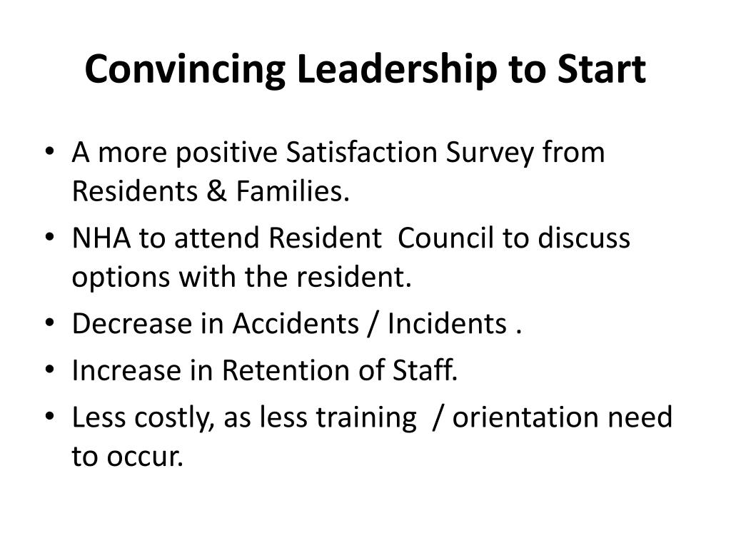 Convincing Leadership to Start