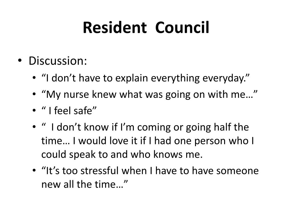 Resident  Council