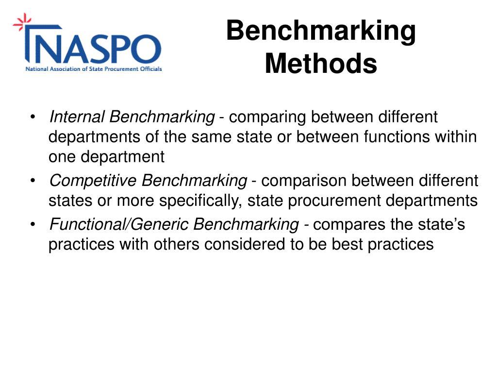 Benchmarking Methods