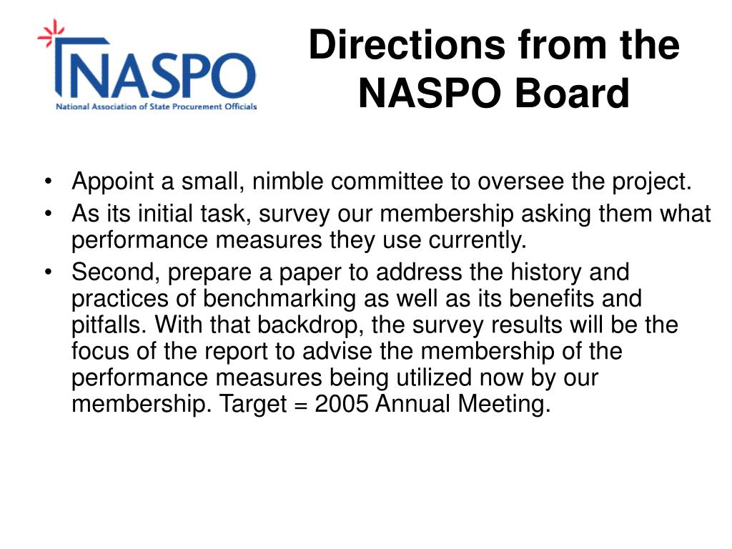 Directions from the NASPO Board
