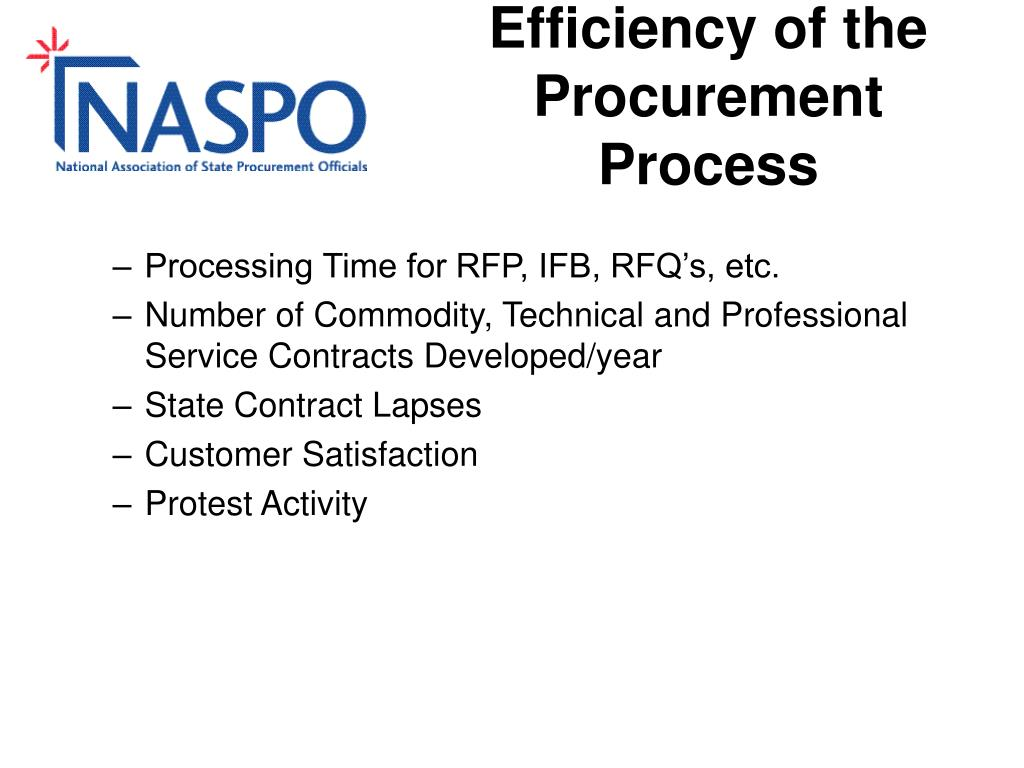 Efficiency of the Procurement Process