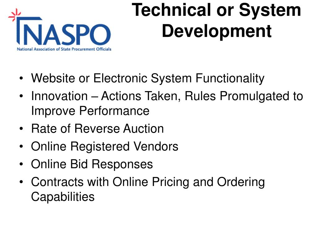 Technical or System Development