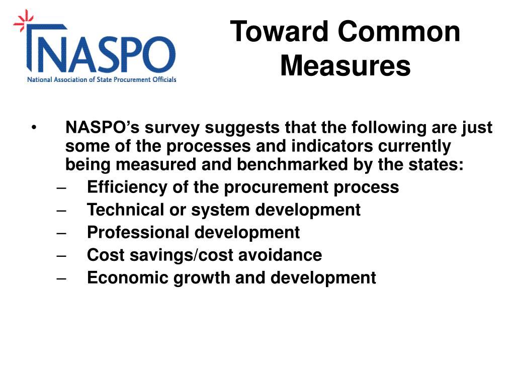 Toward Common Measures