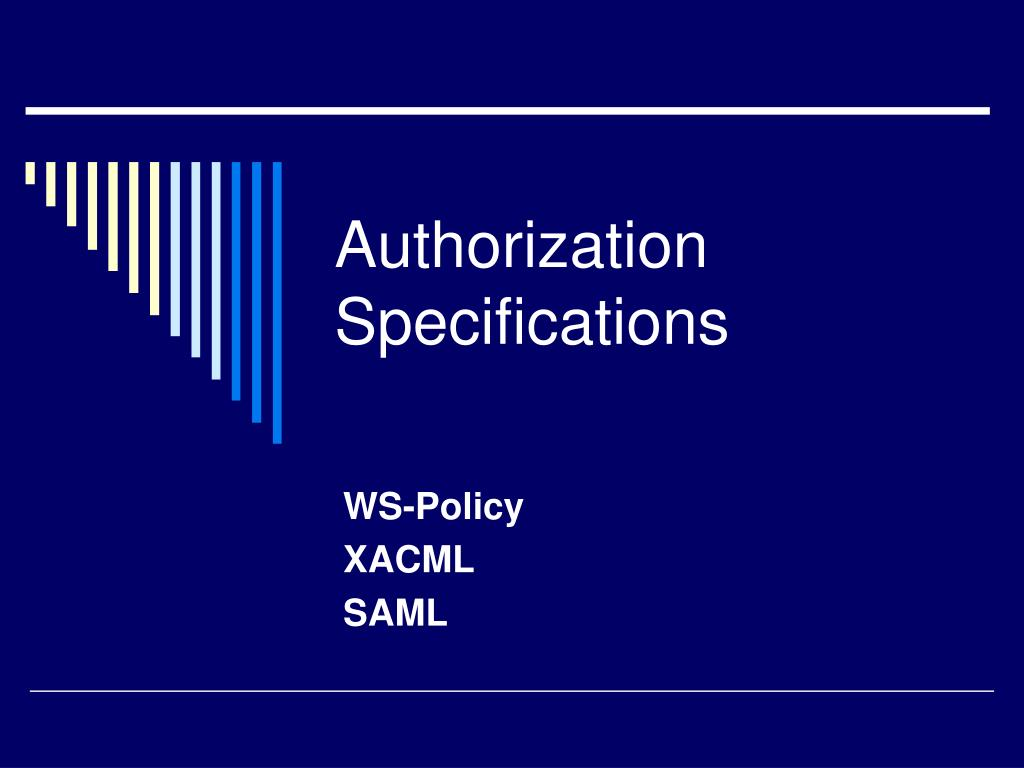 Authorization Specifications