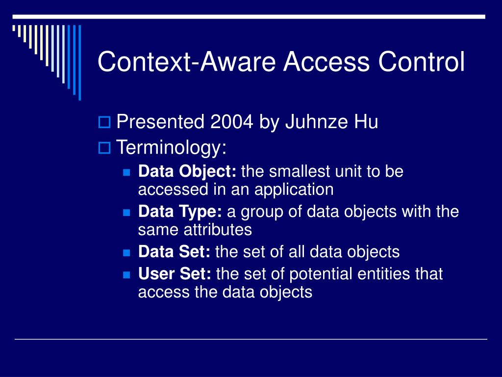 Context-Aware Access Control