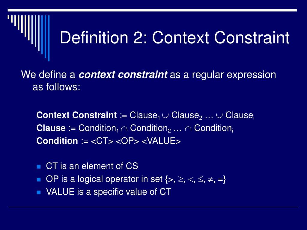 Definition 2: